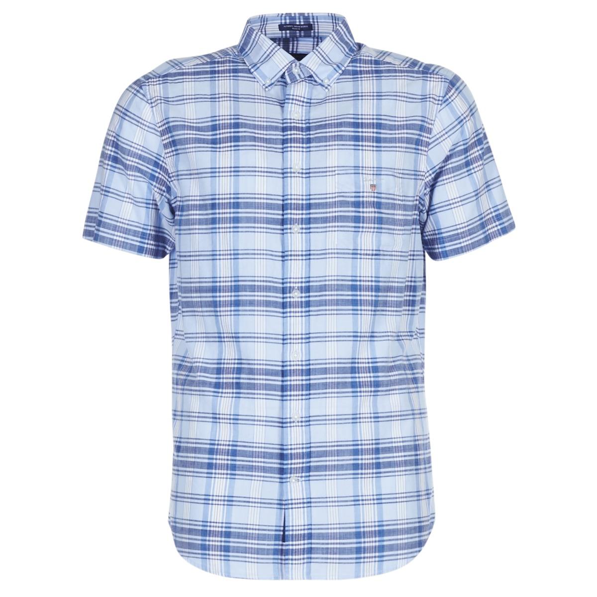 Skjorter m. korte ærme Gant  BLUE PACK MADRAS REG