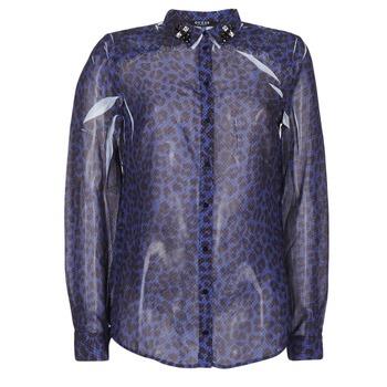 textil Dame Skjorter / Skjortebluser Guess BORICE Blå