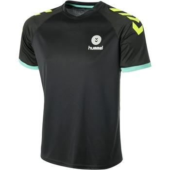 textil Herre T-shirts m. korte ærmer Hummel Maillot  Trophy noir/vert/jaune