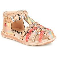 Sko Pige Sandaler GBB PERLE Tts / Pink / Metal-fluo / Dpf / Nemo