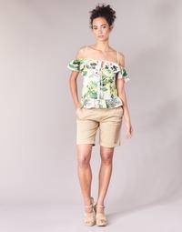 textil Dame Shorts Guess BENARIO Beige