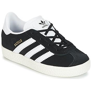 Sko Børn Lave sneakers adidas Originals GAZELLE I Sort / Hvid