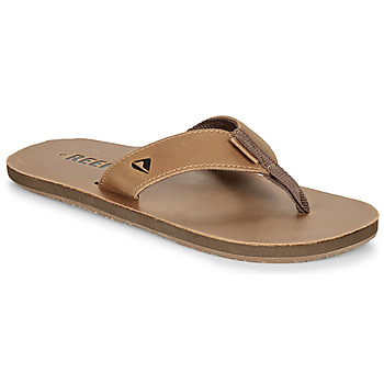 Sko Herre Flip flops Reef LEATHER SMOOTHY Bronze / Brun