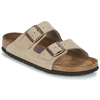 Sko Dame Tøfler Birkenstock ARIZONA Soft Foot Bed Muldvarpegrå