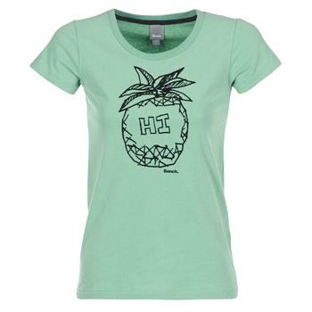 textil Dame T-shirts m. korte ærmer Bench BLWG002642 Grøn
