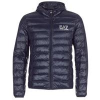 textil Herre Dynejakker Emporio Armani EA7 CORE ID 8NPB02 Marineblå