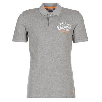 textil Herre Polo-t-shirts m. korte ærmer Jack & Jones JORTRAST Grå
