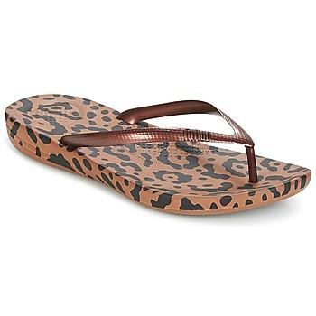 Sko Dame Flip flops FitFlop IQUSHION ERGONOMIC FLIP-FLOPS Bronze / Mix / Leopard / Print