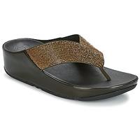 Sko Dame Flip flops FitFlop CRYSTALL Oliven