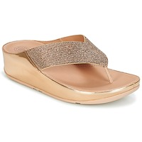 Sko Dame Flip flops FitFlop CRYSTALL Pink / Guld