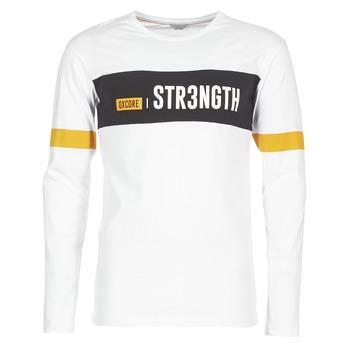 textil Herre T-shirts m. korte ærmer Jack & Jones JCOACE-TEE-LS-CREW-NECK Hvid