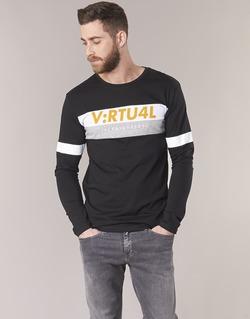textil Herre Langærmede T-shirts Jack & Jones JCOACE-TEE-LS-CREW-NECK Sort