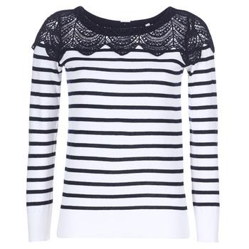 textil Dame Pullovere Naf Naf MLACY Beige / Marineblå