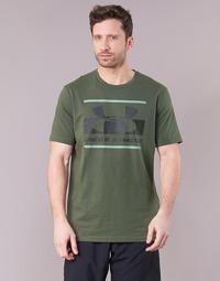 textil Herre T-shirts m. korte ærmer Under Armour BLOCKED SPORTSTYLE LOGO Kaki