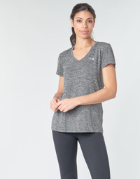 textil Dame T-shirts m. korte ærmer Under Armour TECH SSV - TWIST Sort / Grå