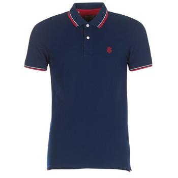 textil Herre Polo-t-shirts m. korte ærmer Selected SLHNEWSEASON Marineblå