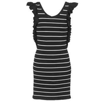 textil Dame Korte kjoler Vero Moda VMABHY Sort / Hvid