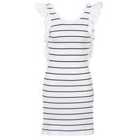 textil Dame Korte kjoler Vero Moda VMABHY Hvid / Sort