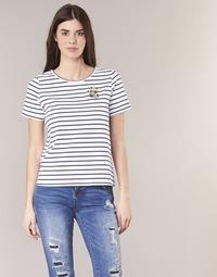 textil Dame T-shirts m. korte ærmer Betty London INNAMOU Hvid / Marineblå