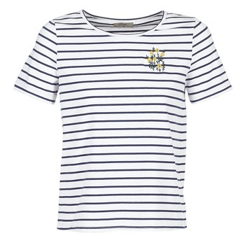 textil Dame T-shirts m. korte ærmer Betty London INNAMOU Hvid / Marineblå