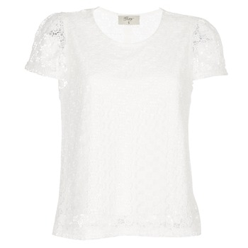 textil Dame Toppe / Bluser Betty London I-LOVI Hvid
