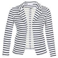 textil Dame Jakker / Blazere Moony Mood IFAROUCHE Hvid / Marineblå