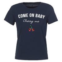 textil Dame T-shirts m. korte ærmer Only KITA Marineblå