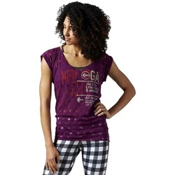 textil Dame T-shirts m. korte ærmer Reebok Sport Yoga New York Lilla