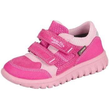 Sko Børn Lave sneakers Superfit Sport Mini Pink Kombi Velour Tecno Textil Pink