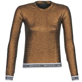 textil Dame Langærmede T-shirts American Retro ALLAN Bronze