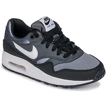 Sko Dreng Lave sneakers Nike AIR MAX 1 GRADE SCHOOL Sort / Grå