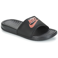 Sko Dame badesandaler Nike BENASSI JUST DO IT W Sort / Guld