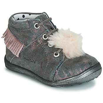 Sko Pige Høje sneakers Catimini PEPITA Vte / GrÅ-marmor / Pink / Dpf / Gluck