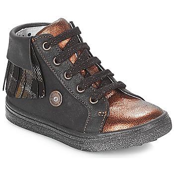 Sko Pige Høje sneakers Catimini LOULOU Sort / Kobber