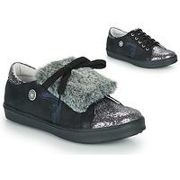 Sko Pige Lave sneakers Catimini MARGOTTE Sort / Sølv