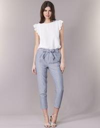textil Dame Lærredsbukser Betty London IKARALE Blå / Hvid