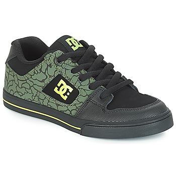 Sko Børn Lave sneakers DC Shoes PURE SE B SHOE BK9 Sort / Grøn