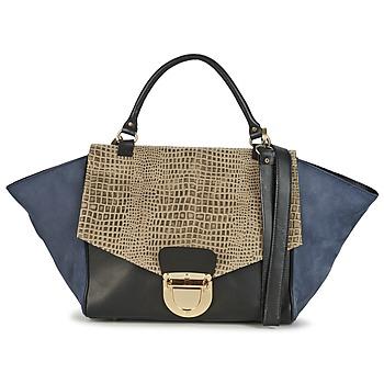 Tasker Dame Håndtasker m. kort hank Su-Shi MILA CROCO Blå / Sort