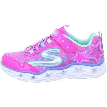 Sko Pige Lave sneakers Skechers Galaxy Lights Kinder Pink