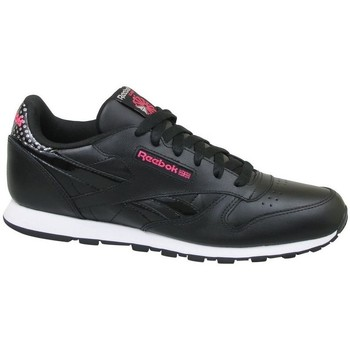 Sko Børn Lave sneakers Reebok Sport CL Leather Girl Squad Sort