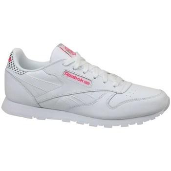 Sko Børn Lave sneakers Reebok Sport CL Leather Girl Squad Hvid