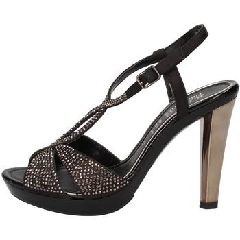 Sko Dame Sandaler Phil Gatiér sandali nero raso strass AC791 Nero