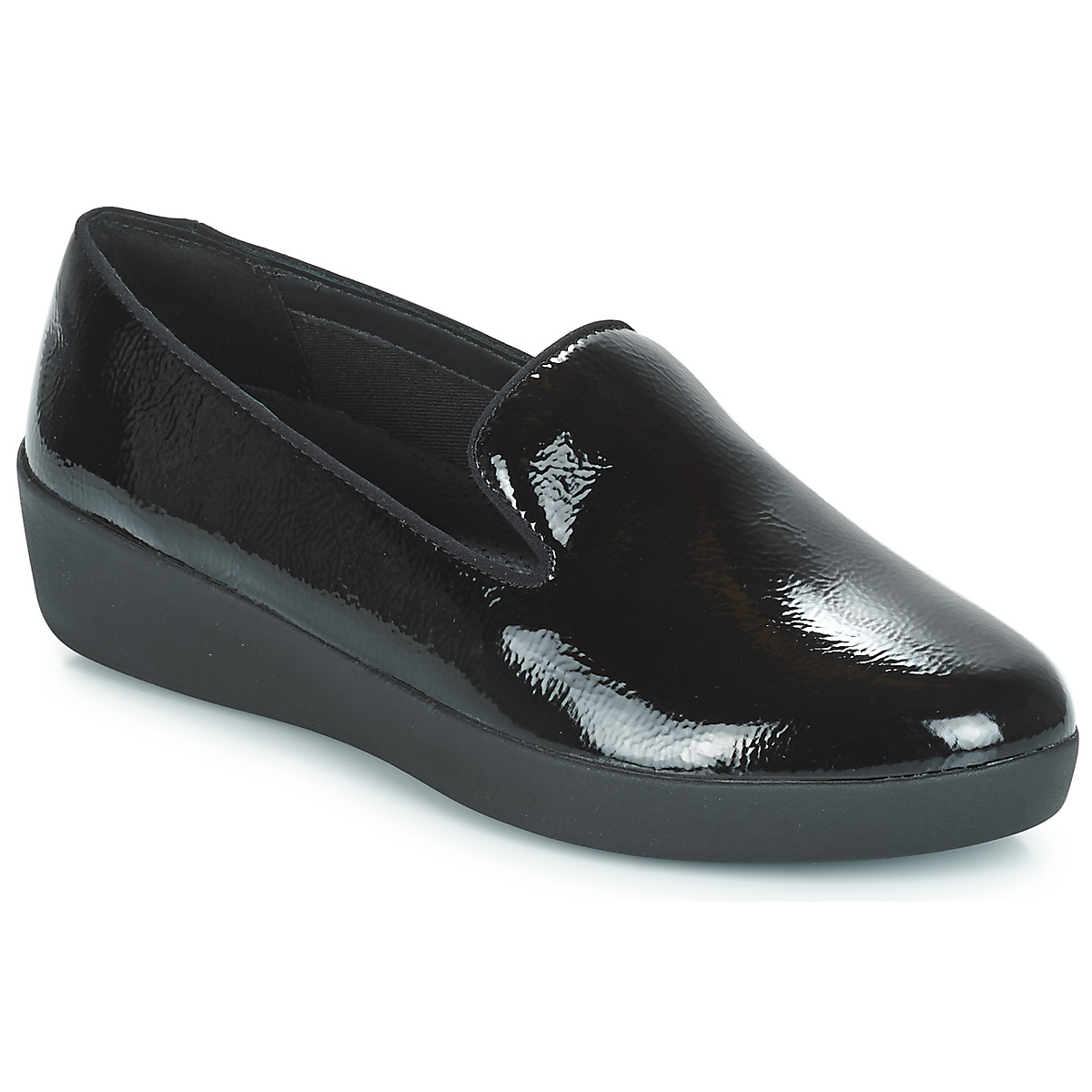 Sko FitFlop  AUDREY SMOKING SLIPPERS CRINKLE PATENT