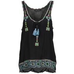 textil Dame Toppe / T-shirts uden ærmer Antik Batik SANAH Sort