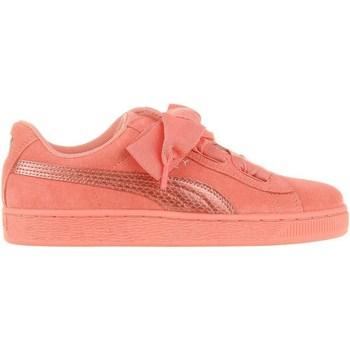 Sko Børn Lave sneakers Puma Suede Heart Snk JR Pink
