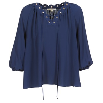 textil Dame Toppe / Bluser MICHAEL Michael Kors SCALLP GRMT CHAIN TOP Marineblå