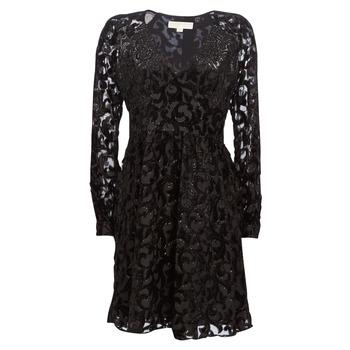 textil Dame Korte kjoler MICHAEL Michael Kors RAGLAN SLV SHORT DRS Sort