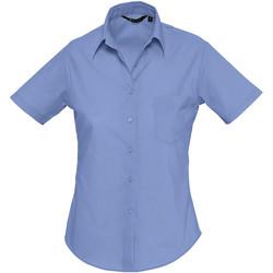 textil Dame Skjorter / Skjortebluser Sols ESCAPE POPELIN WOMEN Azul