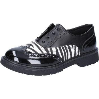 Sko Pige Lave sneakers Enrico Coveri classiche nero pelle bianco vernice AD964 Nero
