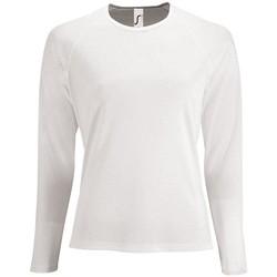 textil Dame Langærmede T-shirts Sols SPORT LSL WOMEN Blanco
